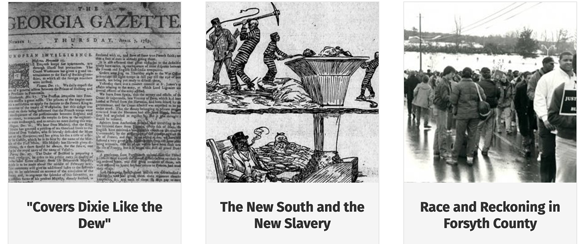 A visual image for the news item title New Online Exhibit Explores Hidden and Untold Georgia Stories