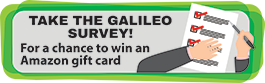 Take the GALILEO survey for a chance to win an Amazon giftcard
