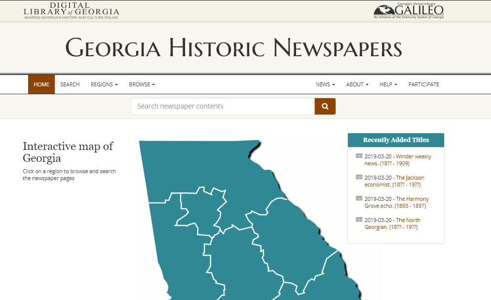 Georgia Historic Newspapers