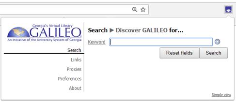 galileo toolbar