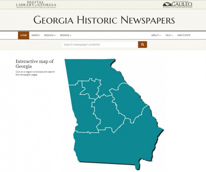 georgia historical newspaper project