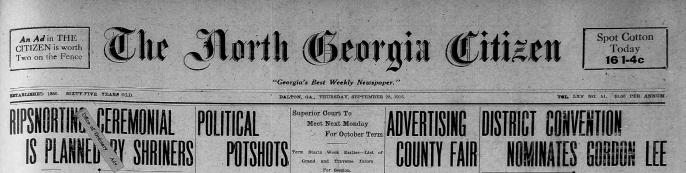 north georgia newspapers