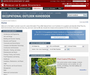 Occupational Outlook Handbook Now Available in GALILEO