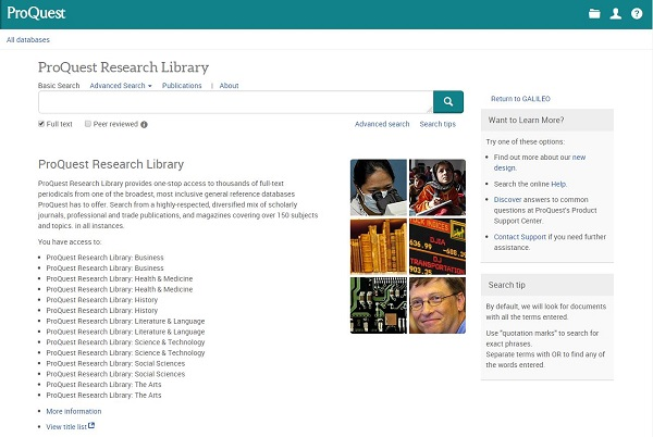 proquest interface