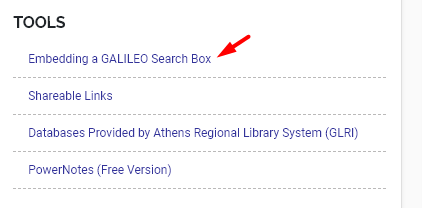 Embed Search Box Link